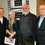 L-R Frank Cotrell Boyce, Maureen Sinclair, Alexsei Sayle and Prof Roger Shannon.